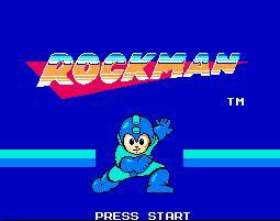 Rockman Title Screen