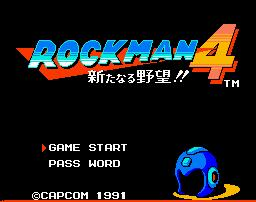 Rockman 4 Title Screen