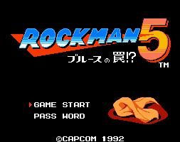 Rockman 5 Title Screen