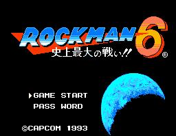 Rockman 6 Title Screen